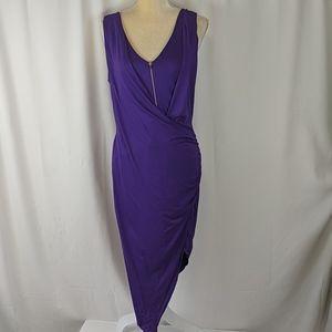 Venus purple sleeveless dress asymetrical hem